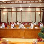 Các Ủy viên Bộ Chính trị dự phiên họp_ẢNH TTXVN